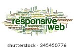conceptual word cloud with... | Shutterstock .eps vector #345450776