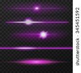 pink  purple  violet horizontal ... | Shutterstock .eps vector #345451592
