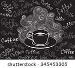food and drink vector seamless... | Shutterstock .eps vector #345453305