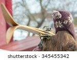 female skier.   Shutterstock . vector #345455342