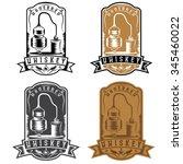 vintage vector labels of... | Shutterstock .eps vector #345460022