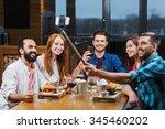 leisure  technology  friendship ... | Shutterstock . vector #345460202