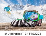 Colorful Ski Glasses  Gloves...