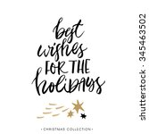 best wishes for the holidays ... | Shutterstock .eps vector #345463502