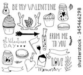 hand drawn doodle illustration... | Shutterstock .eps vector #345466298