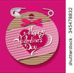 valentine's day card with... | Shutterstock .eps vector #345478832