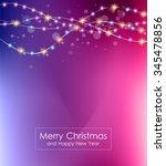 christmas lights background for ... | Shutterstock . vector #345478856