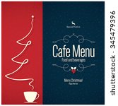 special christmas festive menu... | Shutterstock .eps vector #345479396