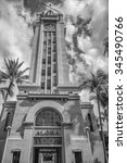 Small photo of Honolulu, Hawaii, USA, Nov. 30, 2015: Vertical view of the iconic Aloha Tower after the reopening ceremonies. Aloha Tower is the gateway to Honolulu Harbor.