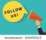 follow us banner for social...   Shutterstock .eps vector #345492515