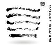 brush stroke and texture.... | Shutterstock .eps vector #345495038