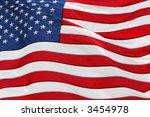 full frame shot of the us flag... | Shutterstock . vector #3454978
