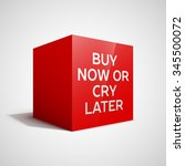 red cube with motivational... | Shutterstock .eps vector #345500072