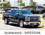 Small photo of SANTIAGO, CHILE - NOVEMBER 24, 2015: Pickup truck Chevrolet Silverado at the city street.