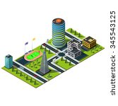Miniature Isometric City Map....