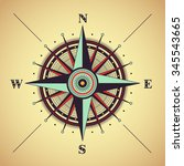 Vector Compass Rose  Detailed...