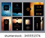 set of brochure  poster... | Shutterstock .eps vector #345551576