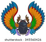 Vector Scarab Beetle  Tattoo...