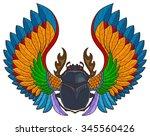 Vector Scarab Beetle  Tattoo...