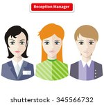 reception manager. personal... | Shutterstock . vector #345566732