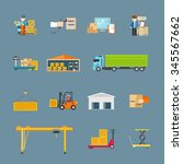 set of icons transport... | Shutterstock . vector #345567662