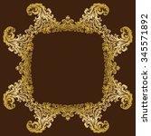 vector vintage luxurious ornate ...   Shutterstock .eps vector #345571892