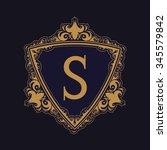 royal triangle border typeface...   Shutterstock .eps vector #345579842