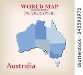 world map info graphic vector. | Shutterstock .eps vector #345593972