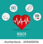 insurance concept with icons... | Shutterstock .eps vector #345600056