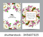 vintage delicate invitation... | Shutterstock . vector #345607325