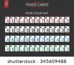 standard poker cards vector set ...