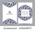 invitation with floral... | Shutterstock . vector #345609875