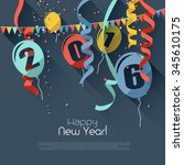 happy new year 2016   modern... | Shutterstock .eps vector #345610175