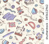 hobby background. crafting... | Shutterstock . vector #345612962