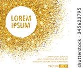 gold sparkles corner on white... | Shutterstock .eps vector #345623795