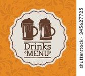 beverage menu design  vector...   Shutterstock .eps vector #345627725