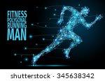 running man from abstract... | Shutterstock . vector #345638342