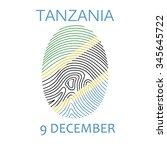 the day of tanzania  vector... | Shutterstock .eps vector #345645722