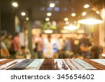 Stock photo wooden top and bar 345654602