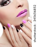 Makeup With Pink Lips And Nail...