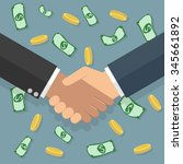 businessmans handshake.... | Shutterstock . vector #345661892