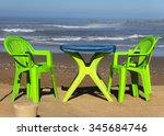 terrace at legzira beach ... | Shutterstock . vector #345684746
