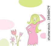 card with pregnant woman  use...   Shutterstock . vector #34568479