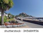 gorey castle and harbour  jersey | Shutterstock . vector #345684956