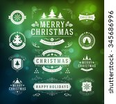 christmas decorations vector... | Shutterstock .eps vector #345686996