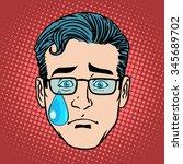 Emoji Cry Sadness Man Face Ico...