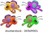 cute butterflies | Shutterstock . vector #34569001