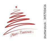 red christmas tree | Shutterstock .eps vector #345703616