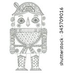 toy soldier coloring page | Shutterstock . vector #345709016