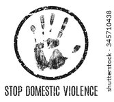 stop domestic violence   vector ... | Shutterstock .eps vector #345710438